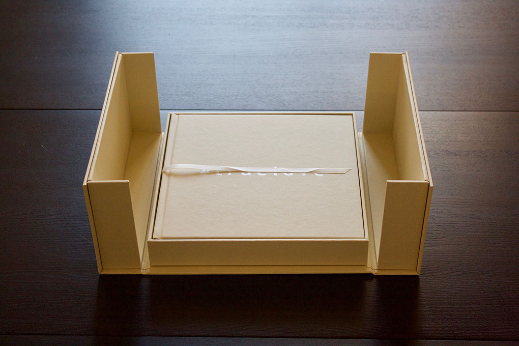 elevated presentation box flaps open