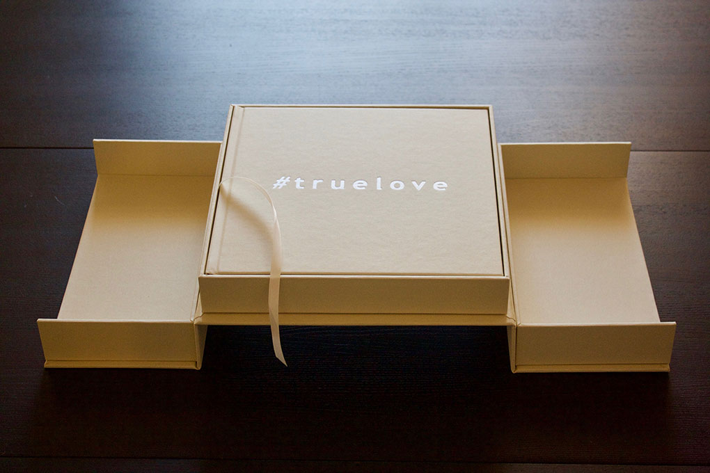 elevated presentation box fully open