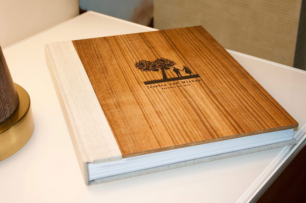 Couture Book's Greenland Earth Book with an Engraved Wood Cover Upgrade