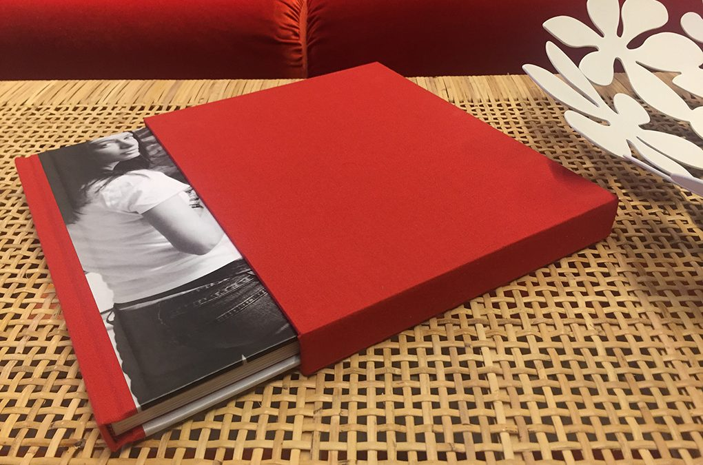 Couture Book's New York Soho book with a cloth-lined slipcase